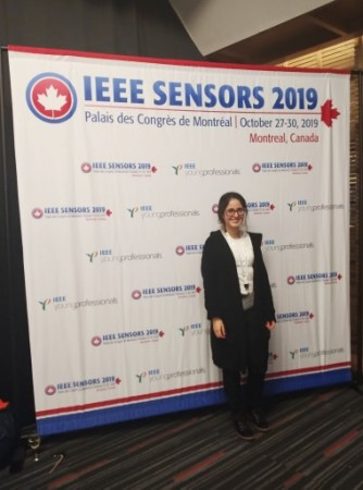 Fabiane Fantinelli Franco discusses Aqueous Ammonia Sensors for water quality monitoring at IEEE Sensors 2019 in Montreal, Canada.