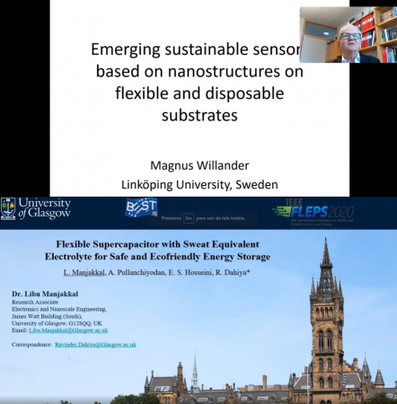 Prof. Magnus Willander and Dr. Libu Manjakkal discuss sustainable sensors and flexible energy storage solutions at IEEE FLEPS 2020