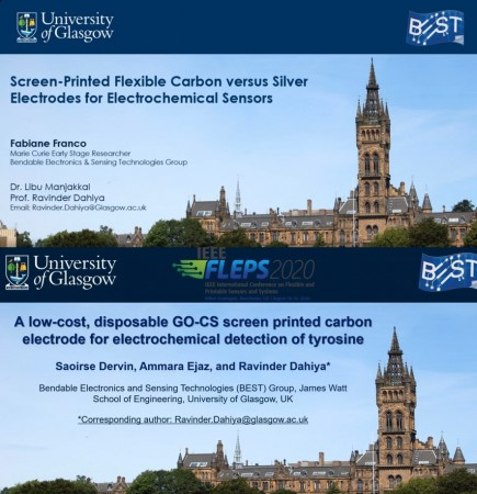 Fabiane Franco and Saoirse Dervin discuss flexible and disposable screen-printed electrochemical sensors at IEEE FLEPS 2020